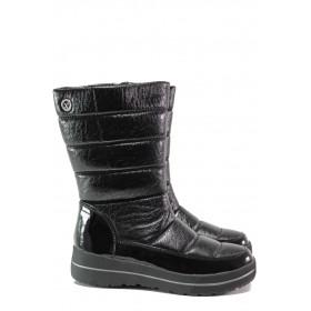 Дамски ботуши - висококачествен pvc материал - черни - EO-13195