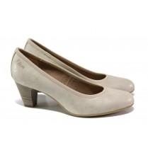 Дамски обувки на среден ток - висококачествена еко-кожа - розови - EO-13499
