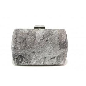 Елегантна дамска чанта - висококачествена еко-кожа - сребро - EO-13581