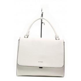 Дамска чанта - висококачествена еко-кожа - бели - EO-13636