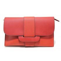 Елегантна дамска чанта - висококачествена еко-кожа - червени - EO-13614