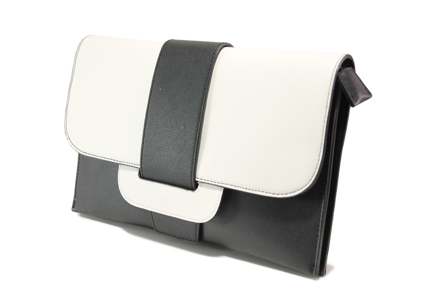 Елегантна дамска чанта - висококачествена еко-кожа - черни - EO-13615