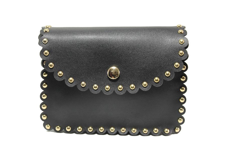 Дамска чанта - висококачествена еко-кожа - черни - EO-13611