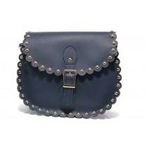 Дамска чанта - висококачествена еко-кожа - тъмносин - EO-13609