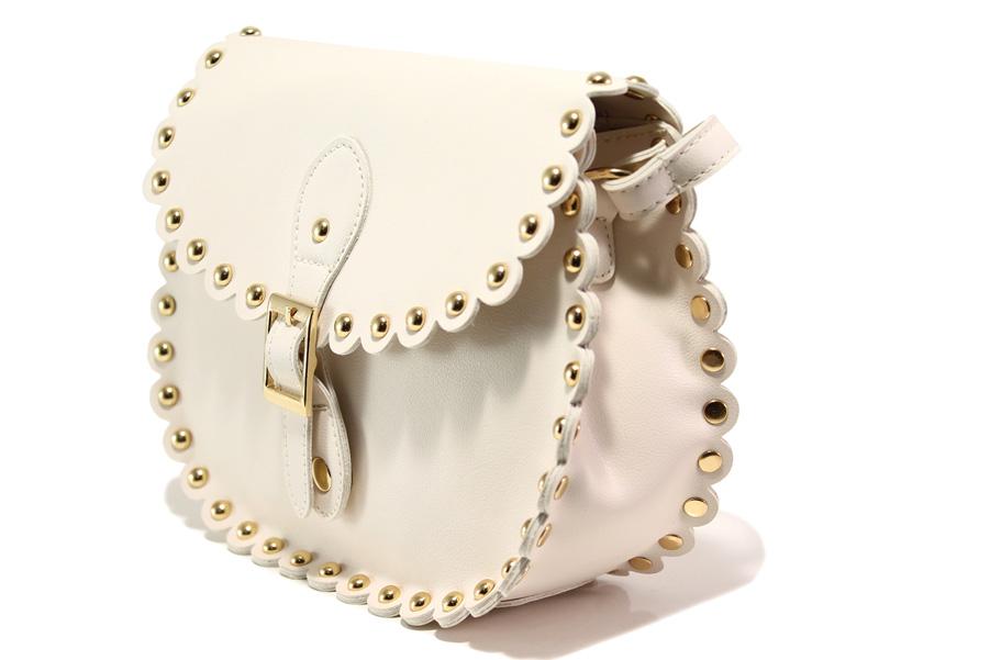 Дамска чанта - висококачествена еко-кожа - бежови - EO-13610