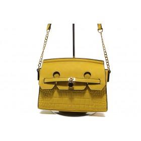 Дамска чанта - висококачествена еко-кожа - жълти - EO-13604