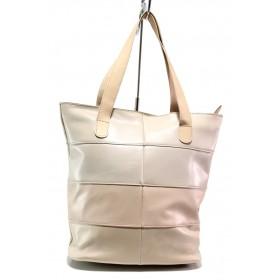 Дамска чанта - естествена кожа - розови - EO-14014