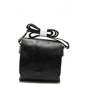 Мъжка чанта - естествена кожа - черни - EO-13976