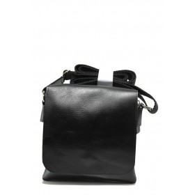 Мъжка чанта - естествена кожа - черни - EO-13977
