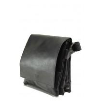Мъжка чанта - естествена кожа - черни - EO-13979