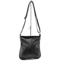 Дамска чанта - естествена кожа - черни - EO-14042