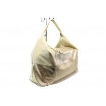 Дамска чанта - естествена кожа - бежови - EO-14078