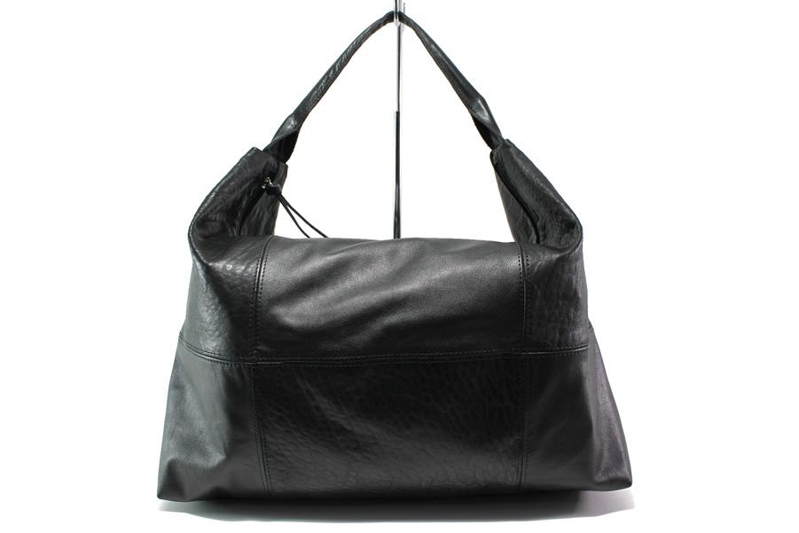 Дамска чанта - естествена кожа - черни - EO-14076