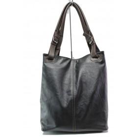 Дамска чанта - естествена кожа - кафяви - EO-14080