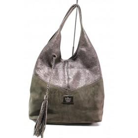Дамска чанта - естествена кожа - кафяви - EO-14422