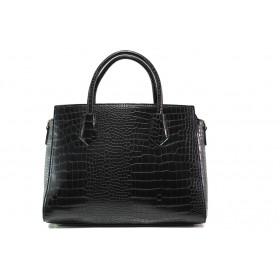 Дамска чанта - висококачествена еко-кожа - черни - EO-14606