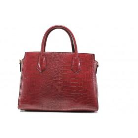 Дамска чанта - висококачествена еко-кожа - бордо - EO-14607