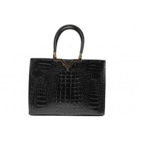 Дамска чанта - висококачествена еко-кожа - черни - EO-14609