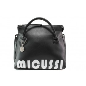 Дамска чанта - висококачествена еко-кожа - черни - EO-14617