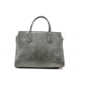 Дамска чанта - висококачествена еко-кожа - сиви - EO-14604
