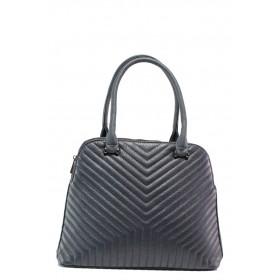 Дамска чанта - висококачествена еко-кожа - тъмносин - EO-14615