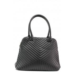 Дамска чанта - висококачествена еко-кожа - черни - EO-14614