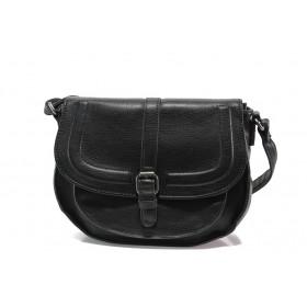 Дамска чанта - висококачествена еко-кожа - черни - EO-14618