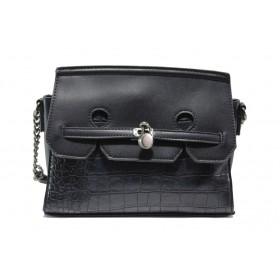 Дамска чанта - висококачествена еко-кожа - тъмносин - EO-14625