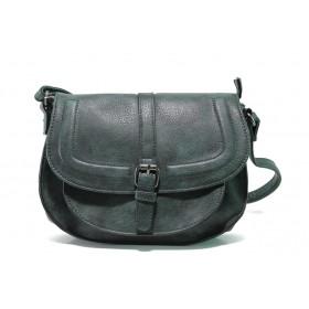 Дамска чанта - висококачествена еко-кожа - зелени - EO-14620