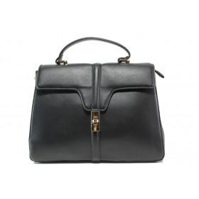 Дамска чанта - висококачествена еко-кожа - черни - EO-14905
