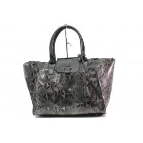 Дамска чанта - висококачествена еко-кожа - сиви - EO-14913