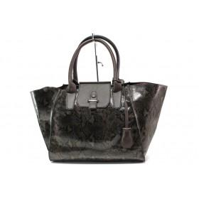 Дамска чанта - висококачествена еко-кожа - кафяви - EO-14914