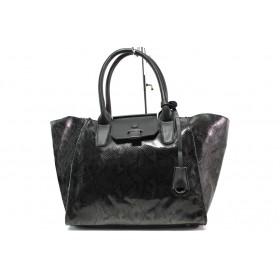Дамска чанта - висококачествена еко-кожа - черни - EO-14915
