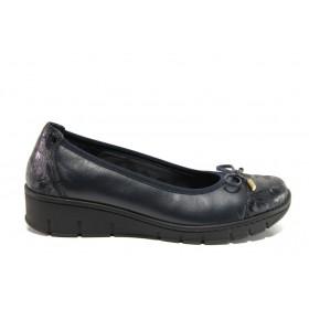 Равни дамски обувки - естествена кожа - черни - EO-14288