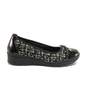 Равни дамски обувки - естествена кожа - черни - EO-14289