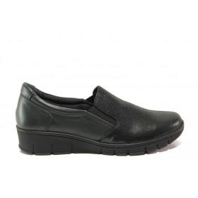 Равни дамски обувки - естествена кожа - зелени - EO-14390