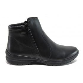 Дамски боти - естествена кожа - черни - EO-14381