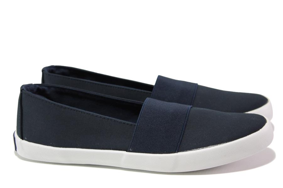 Дамски спортни обувки - висококачествен текстилен материал - тъмносин - EO-14209