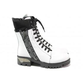 Дамски боти - естествена кожа - бели - EO-14791