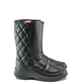 Дамски боти - висококачествена еко-кожа - черни - EO-14925