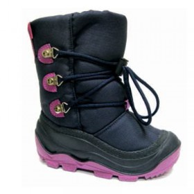 Гумени детски ботуши - висококачествен pvc материал и текстил - тъмносин - EO-14890