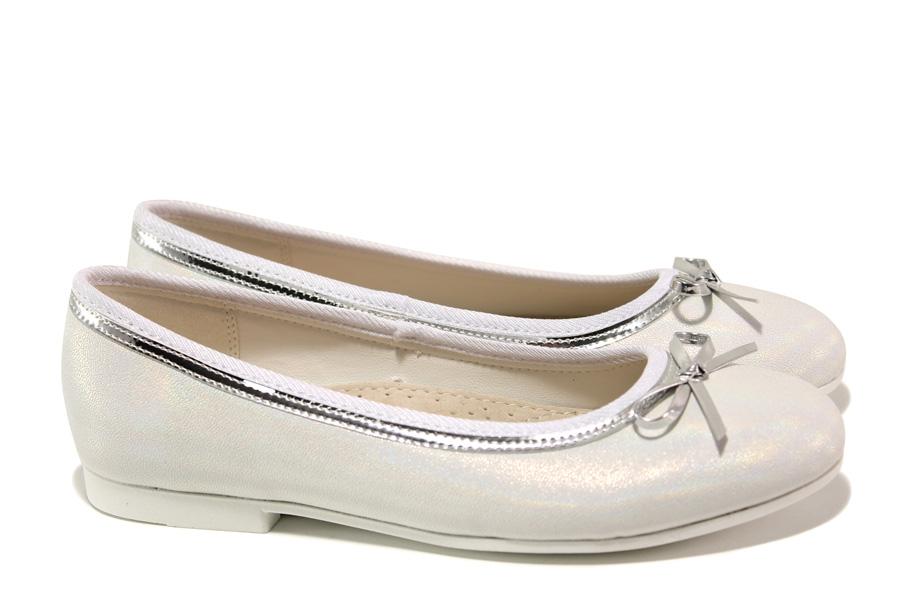 Детски обувки - висококачествена еко-кожа - бели - EO-13908