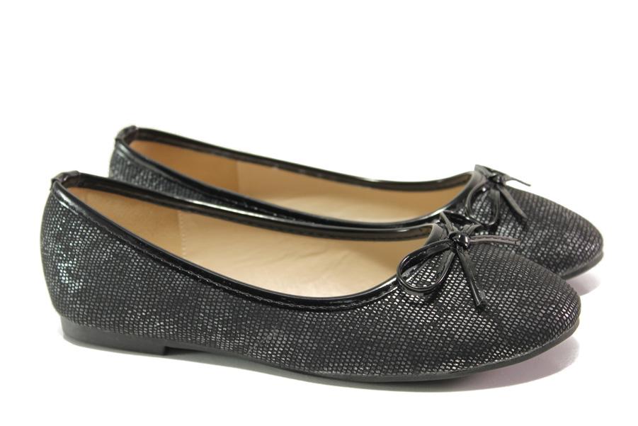 Детски обувки - висококачествена еко-кожа - черни - EO-13929