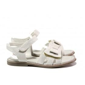 Детски сандали - висококачествена еко-кожа - бели - EO-14181