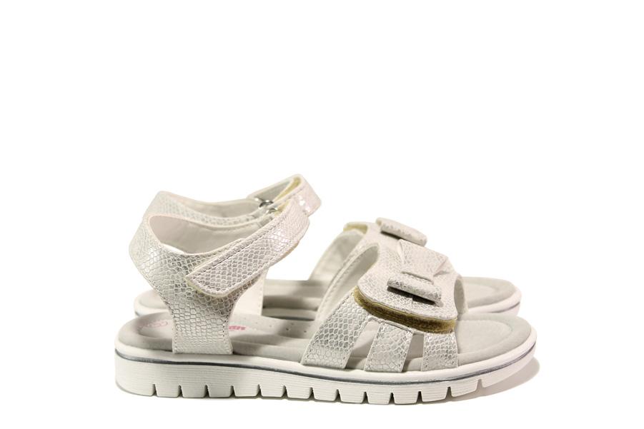 Детски сандали - висококачествена еко-кожа - бели - EO-14182