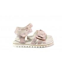 Детски сандали - висококачествена еко-кожа - розови - EO-14184