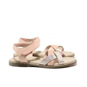 Детски сандали - висококачествена еко-кожа - розови - EO-14179