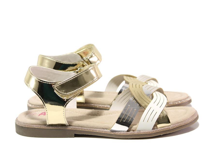 Детски сандали - висококачествена еко-кожа - жълти - EO-14180