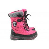 Детски боти - висококачествен текстилен материал - розови - EO-14865