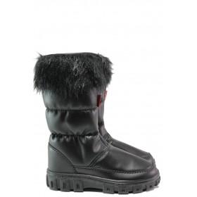 Детски ботуши - висококачествена еко-кожа - черни - EO-14930